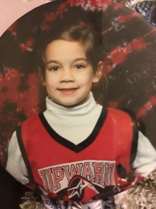 me as a child cheerleader